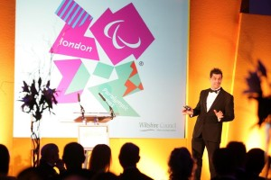 Paralympic Gold Medalists Mark Colbourne MBE at the Future Funding Gala Dinner